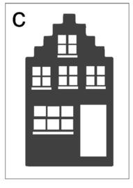 Sticker huisje C (11x20cm)