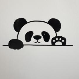 Muursticker   Panda verstopt