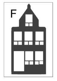 Sticker huisje F (10x20cm)