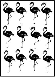 Traktatiestickers - Flamingo