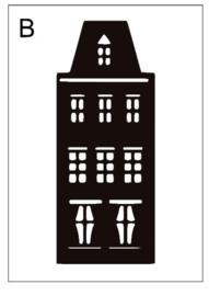Sticker huisje B (9x24cm)