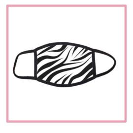 Mondkapje zebraprint