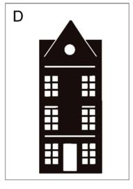 Sticker huisje D (9x24cm)