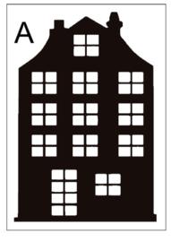 Sticker huisje A (14x20cm)