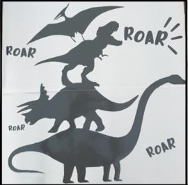 Muursticker    Stapel Dino