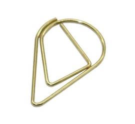 Paperclip druppelvorm (goud)