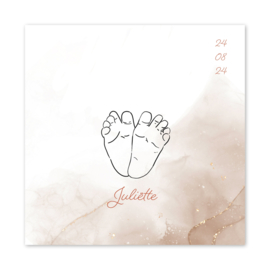 Geboortekaart meisje | Little Toes