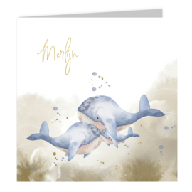 Geboortekaart | Whale family