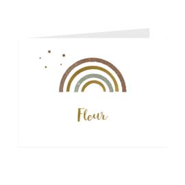 Geboortekaart  | Rainbow