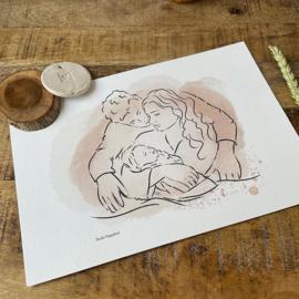 "Lijnillustratie ""Kraamkado"""