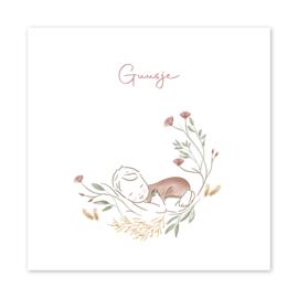 Geboortekaart meisje| Peace