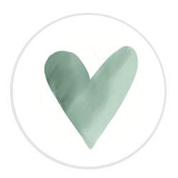 Aquarel hartje mint | 24 stuks