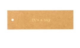 """Label """"It's a boy"""""""