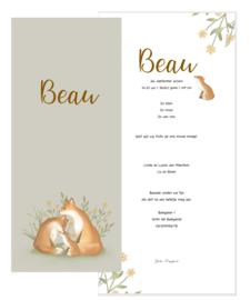 Geboortekaart tweeling | Flower Fox