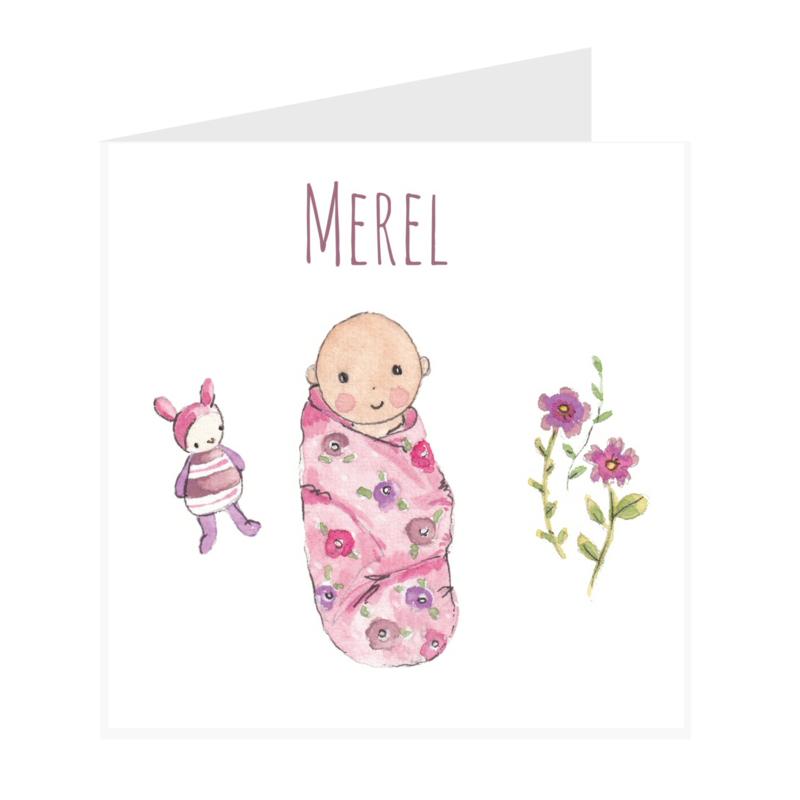 Geboortekaart meisje   Baby Lila