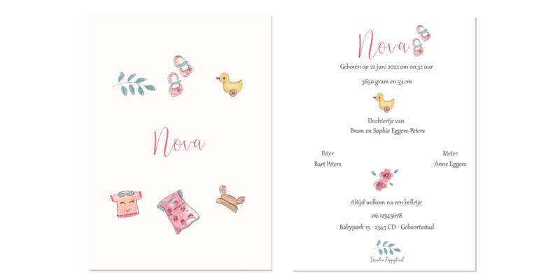 Geboortekaart meisje   Baby Stuff Abricot
