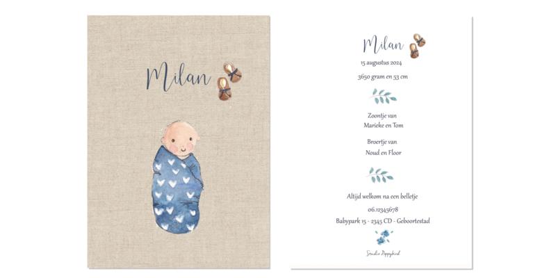 Geboortekaart jongen | Baby Brown