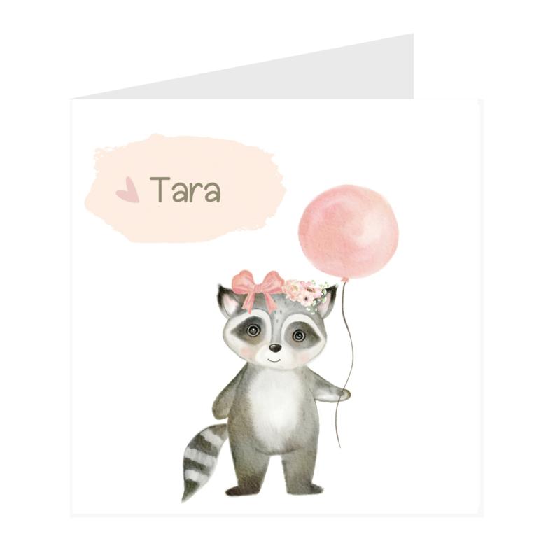 Geboortekaart meisje | Little Racoon