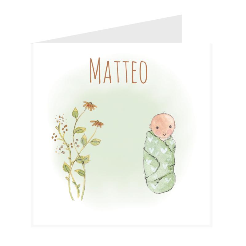 Geboortekaart   Baby Mint