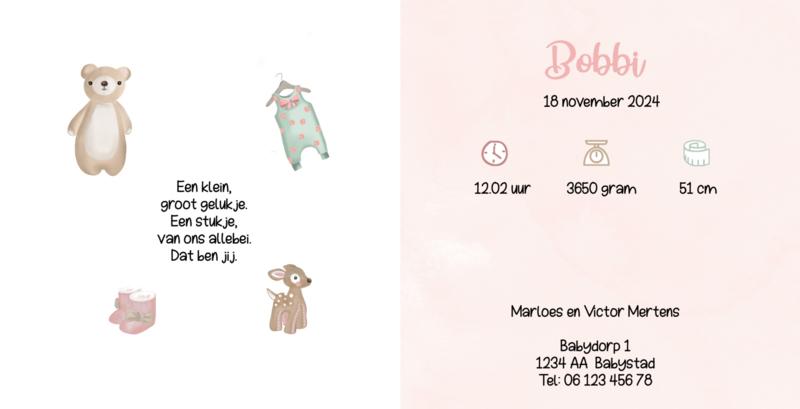 Geboortekaart meisje   Baby Girl