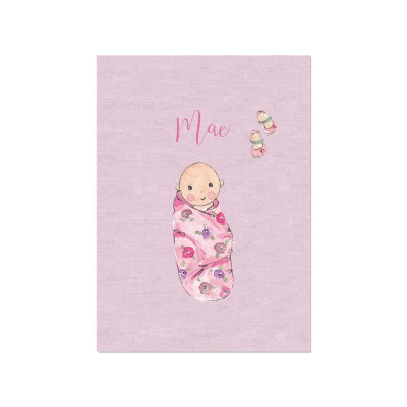 Geboortekaart meisje   Baby Linnen