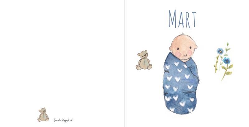 Geboortekaart Jongen | Baby Blue