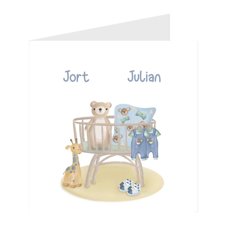 Geboortekaart meerlingen   Baby Boys