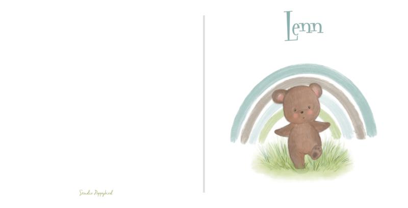 Geboortekaart jongen   Rainbow bear