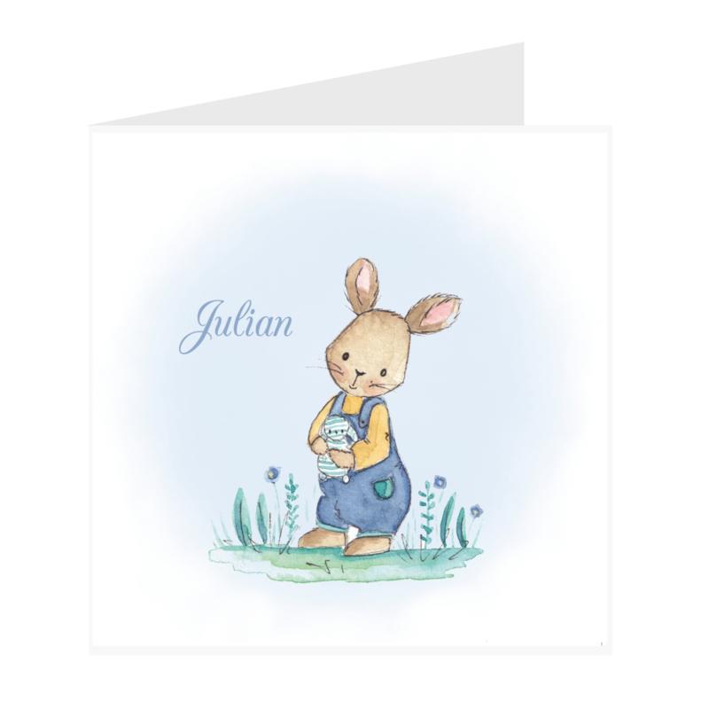 Geboortekaart jongen | Klein konijntje