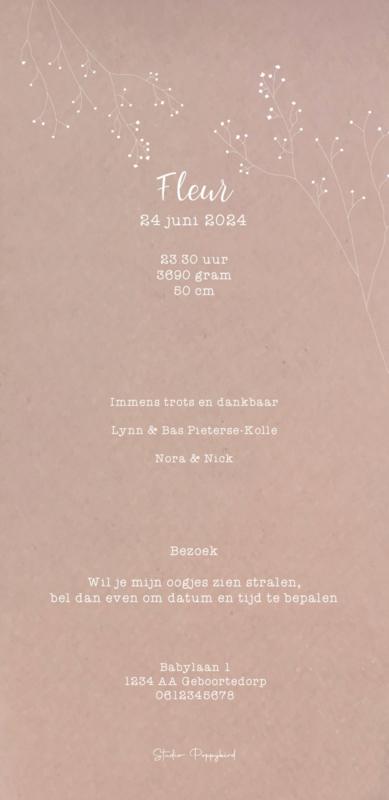 Geboortekaart meisje | Tinto