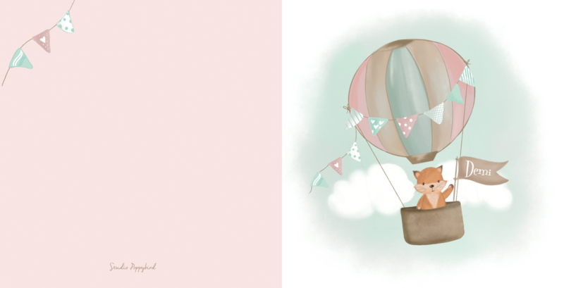 Geboortekaart jongen | Hello fox!