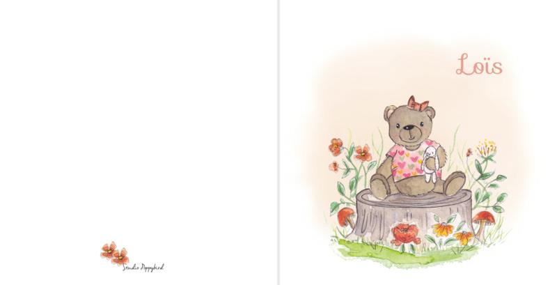 Geboortekaart meisje| Bear Bear