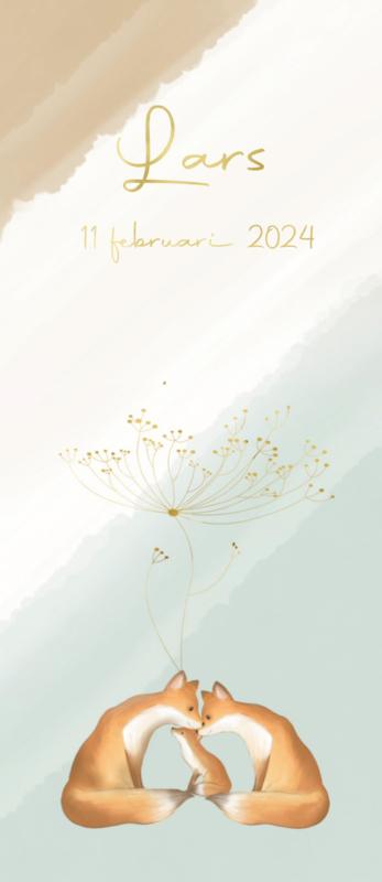 Geboortekaart jongen | Flower Fox