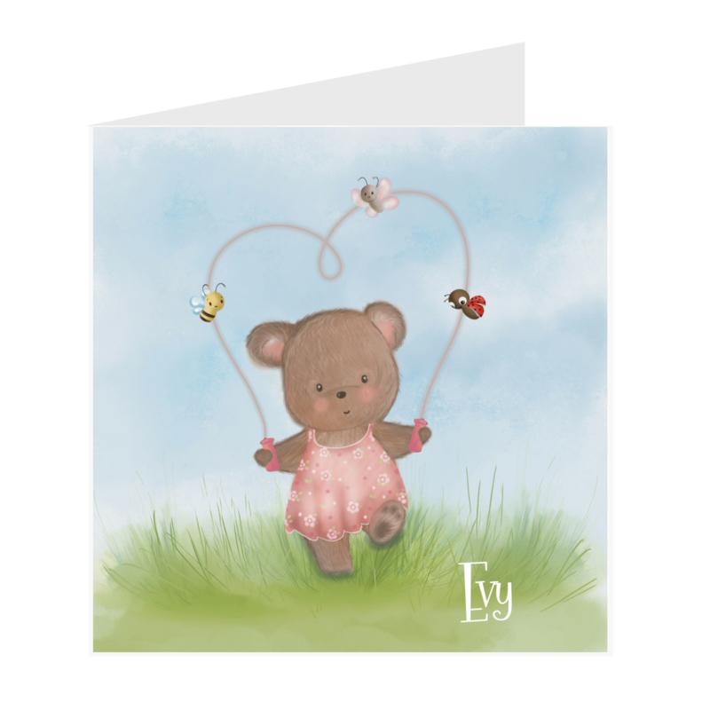 Geboortekaart meisje | Happy Bear