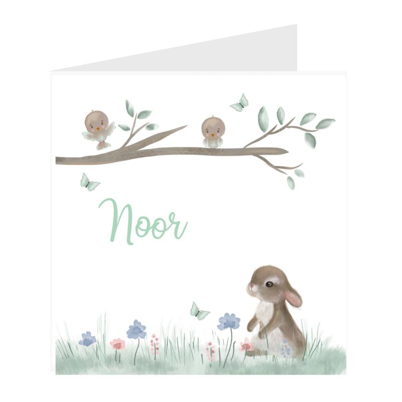Geboortekaart | Sweet bunny