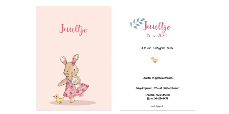 Geboortekaart meisje | Bunny