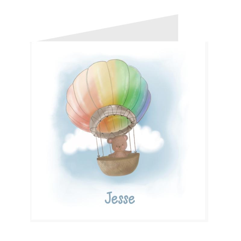 Geboortekaart jongen | Rainbow balloon