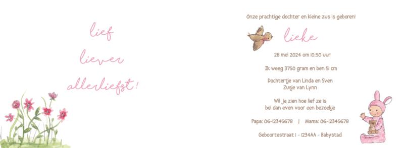 Geboortekaart meisje   Friends