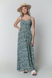 Sophie Zebra Maxi Smock Dress