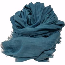 Viscose sjaal blauw