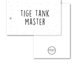 Kruske Cadeaulabel - tige tank master