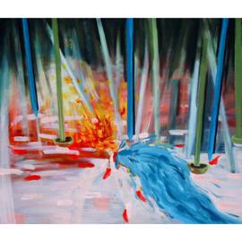 'Gewoon het canvas en ik' schilderijen 007