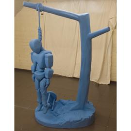 Robot in ontkenning Het koord