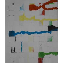 Transformerende vierkantjes op doek Nr. 16 (buiten de reeks)