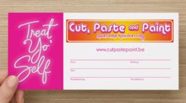 Cadeaubon Cut,paste&paint