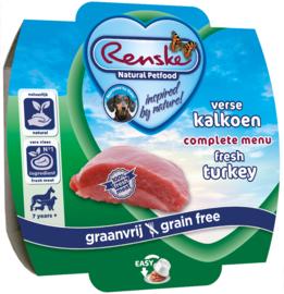 Renske gestoomd Vers vlees kalkoen (graanvrij) 100 gram