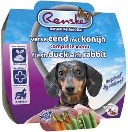Renske gestoomd Vers vlees eend met konijn 100 gram