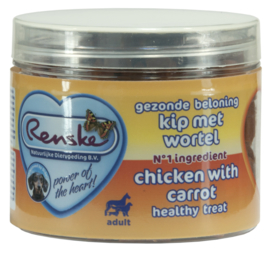 Renske Gezonde beloning trainers kip met wortel 100 gram