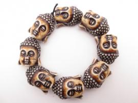 Meditatie armband boeddha bruin