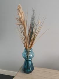 Vaas blue met droogboeket